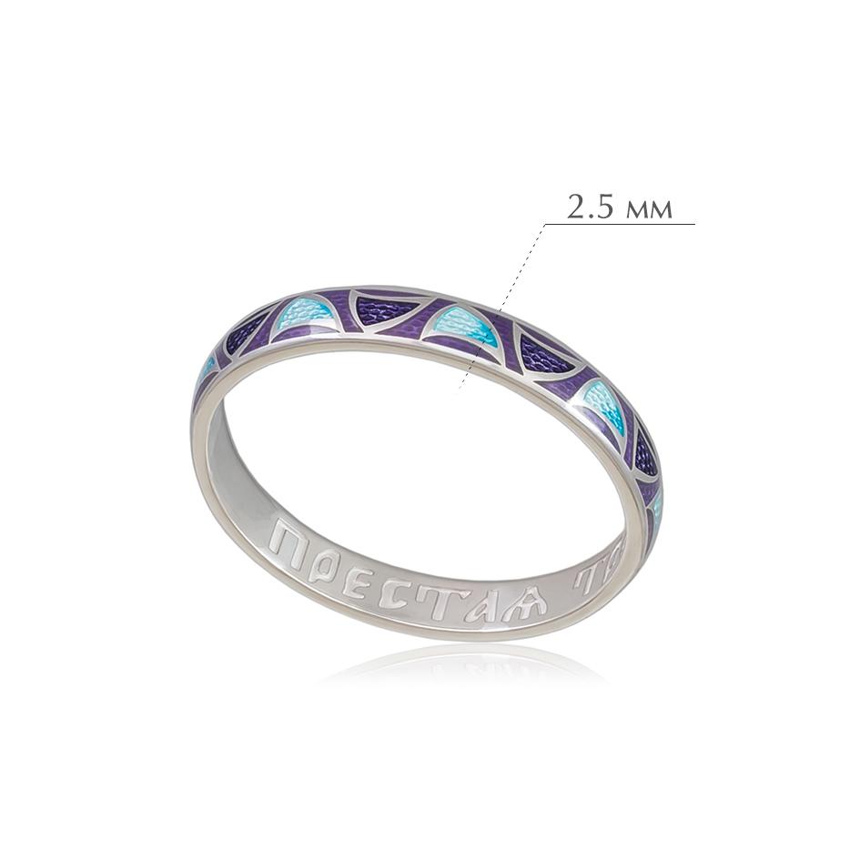 kolcza sedmicza 16 - Кольцо из серебра «Седмица», фиолетовое