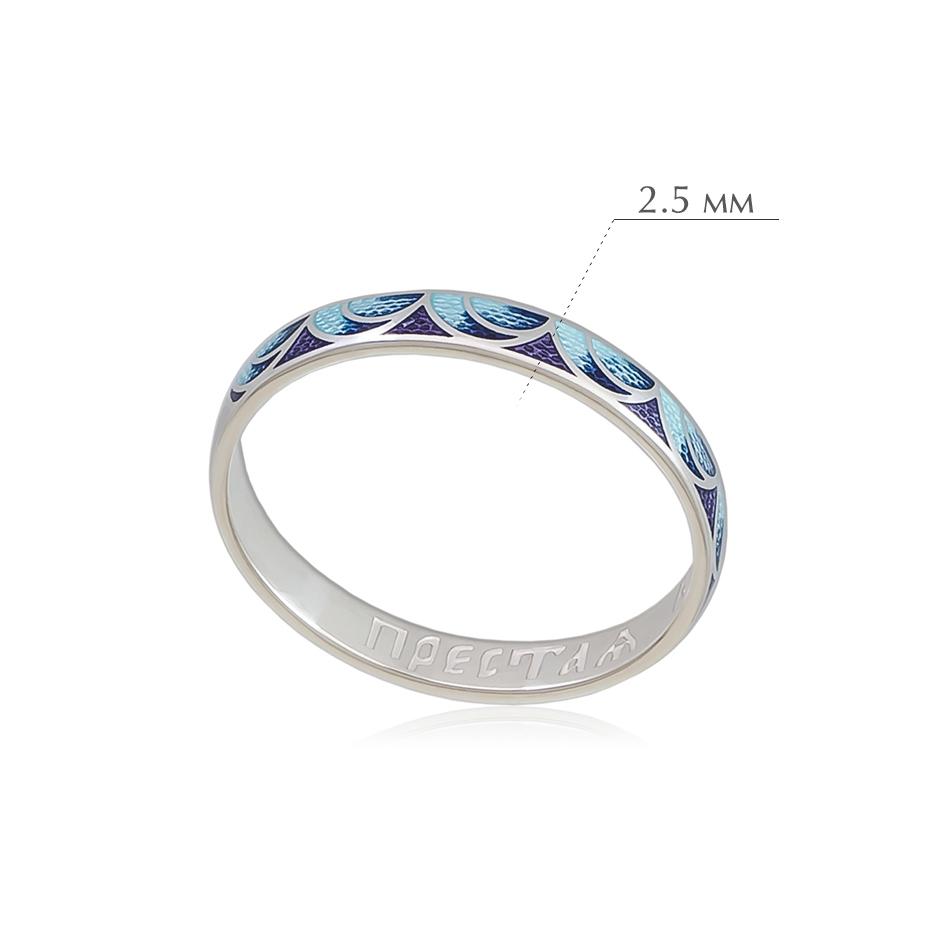 kolcza sedmicza 22 - Кольцо из серебра «Седмица», сине-фиолетовое