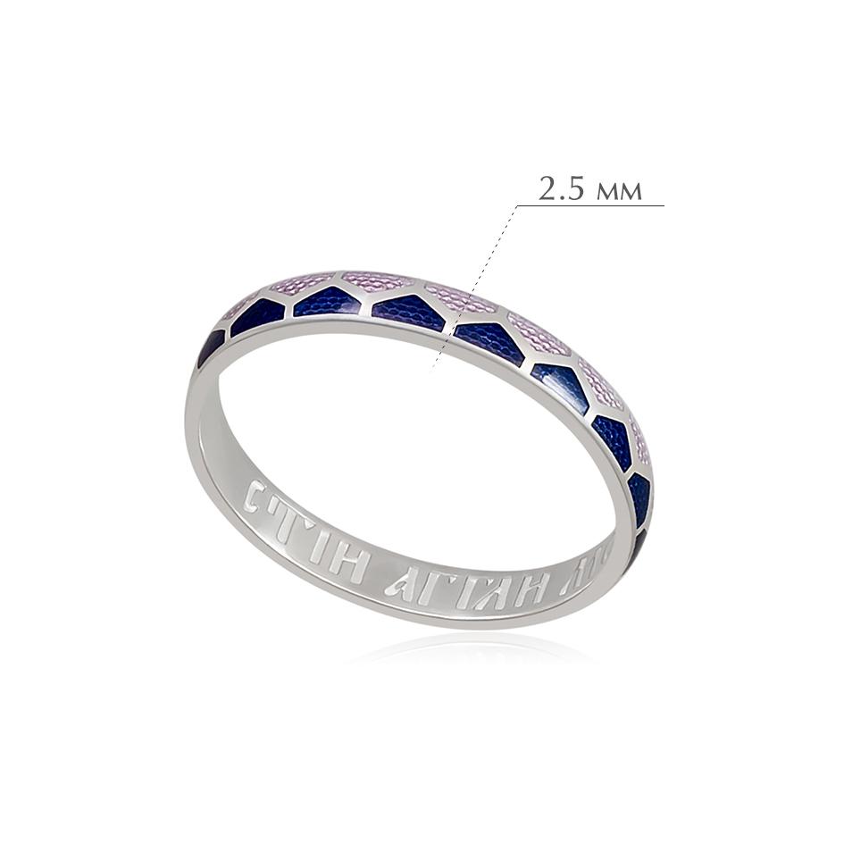 kolcza sedmicza 28 - Кольцо из серебра «Седмица», фиолетовая