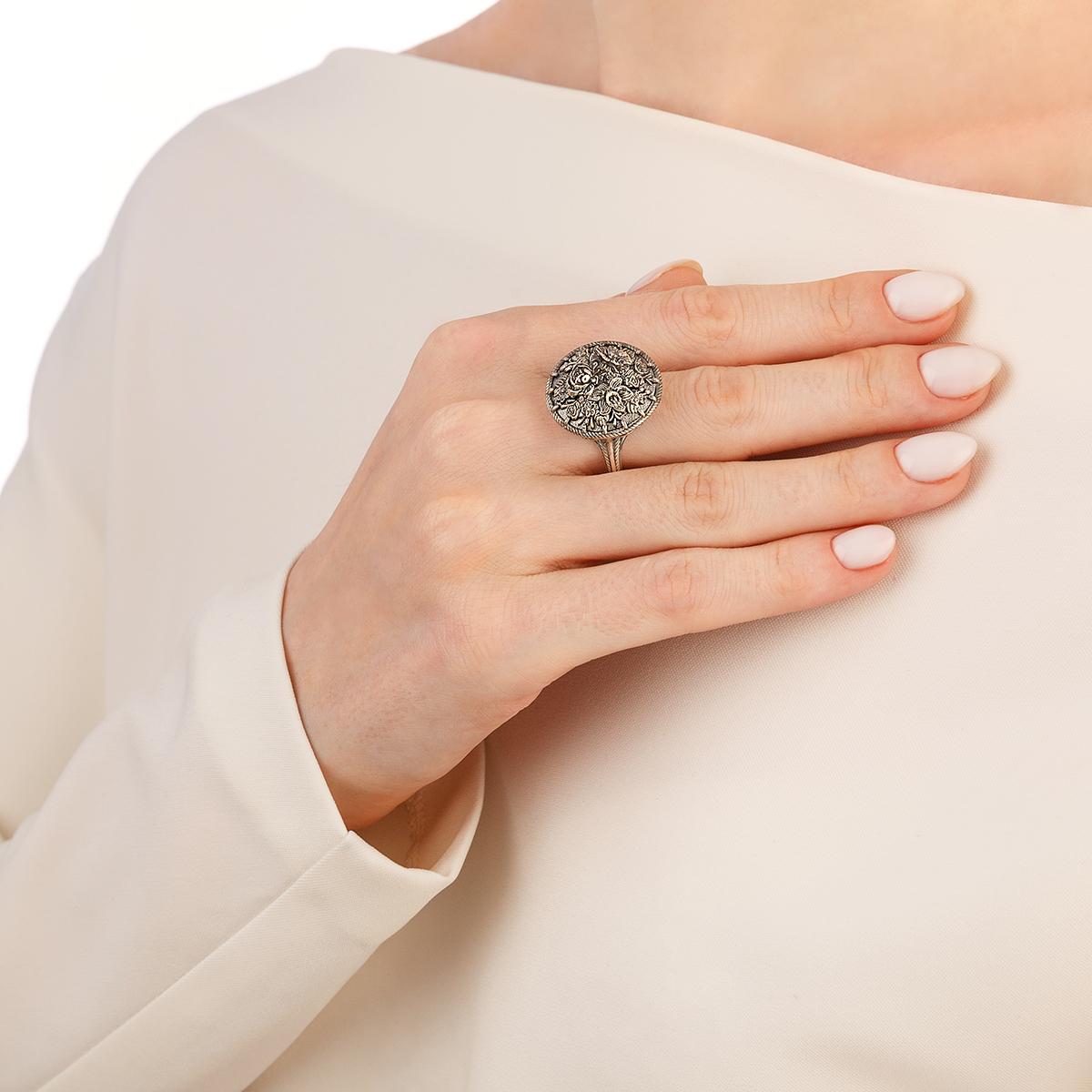 kolczo persten zhostovo 6.24 - Перстень из серебра «Жостово»