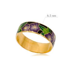 kolczo petuniya razmery 1 300x300 - Кольцо из серебра «Петуния» (золочение), фиолетовое