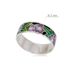 kolczo petuniya razmery 3 300x300 - Кольцо из серебра «Петуния», фиолетовое