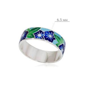 kolczo petuniya razmery 4 300x300 - Кольцо из серебра «Петуния», синяя