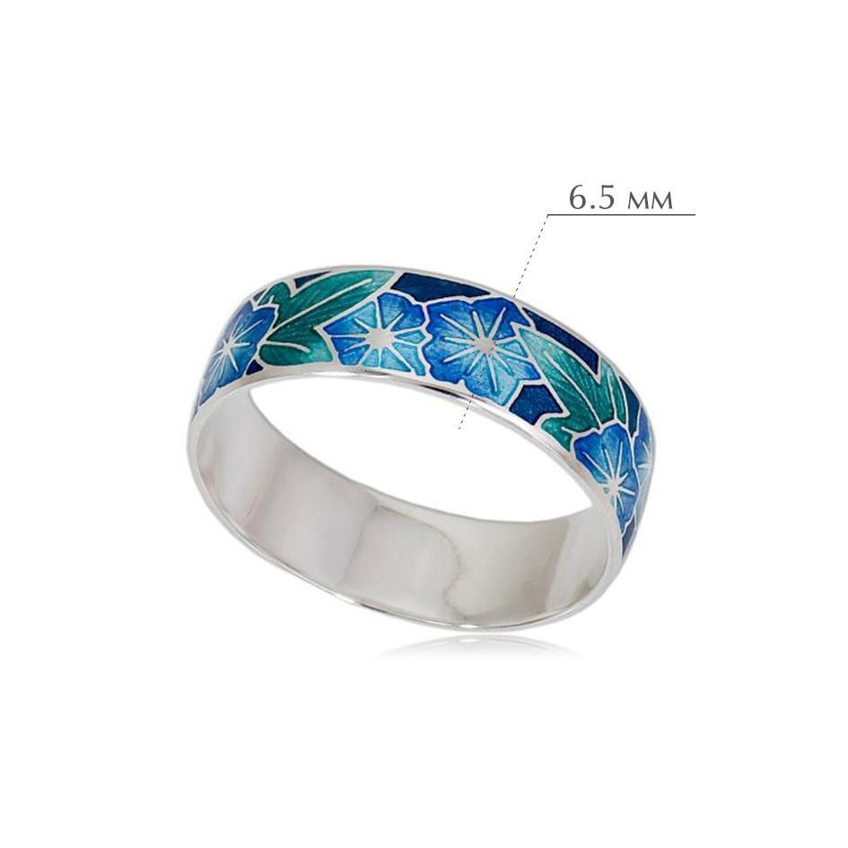 kolczo petuniya razmery 5 - Кольцо из серебра «Петуния», голубое