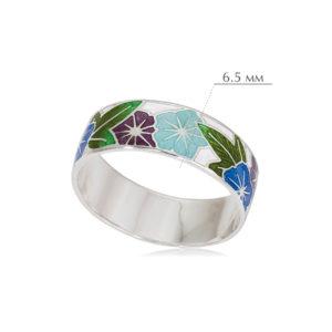 kolczo petuniya razmery 6 300x300 - Кольцо из серебра «Петуния», трехцветное