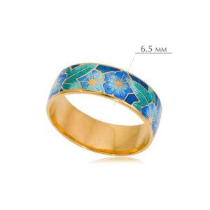 kolczo petuniya razmery 7 300x300 - Кольцо из серебра «Петуния» (золочение), голубое