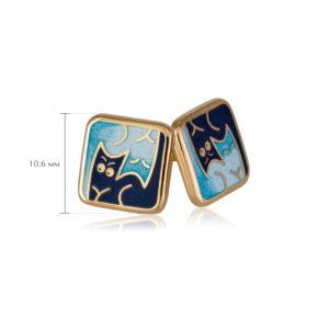 kotiki 3 1 300x300 - Пуссеты «Котики Инь-Ян» (золочение), синие