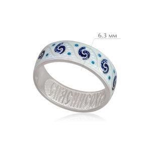 meandr 1 300x300 - Кольцо из серебра «Меандр», белая