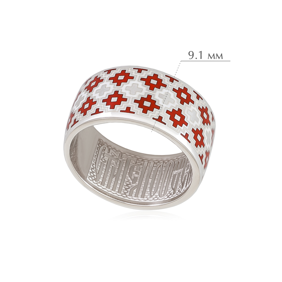merezhka 1 - Кольцо из серебра «Мережка», красное