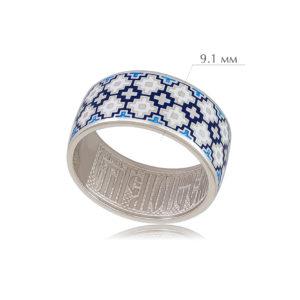 merezhka 2 300x300 - Кольцо из серебра «Мережка», синее