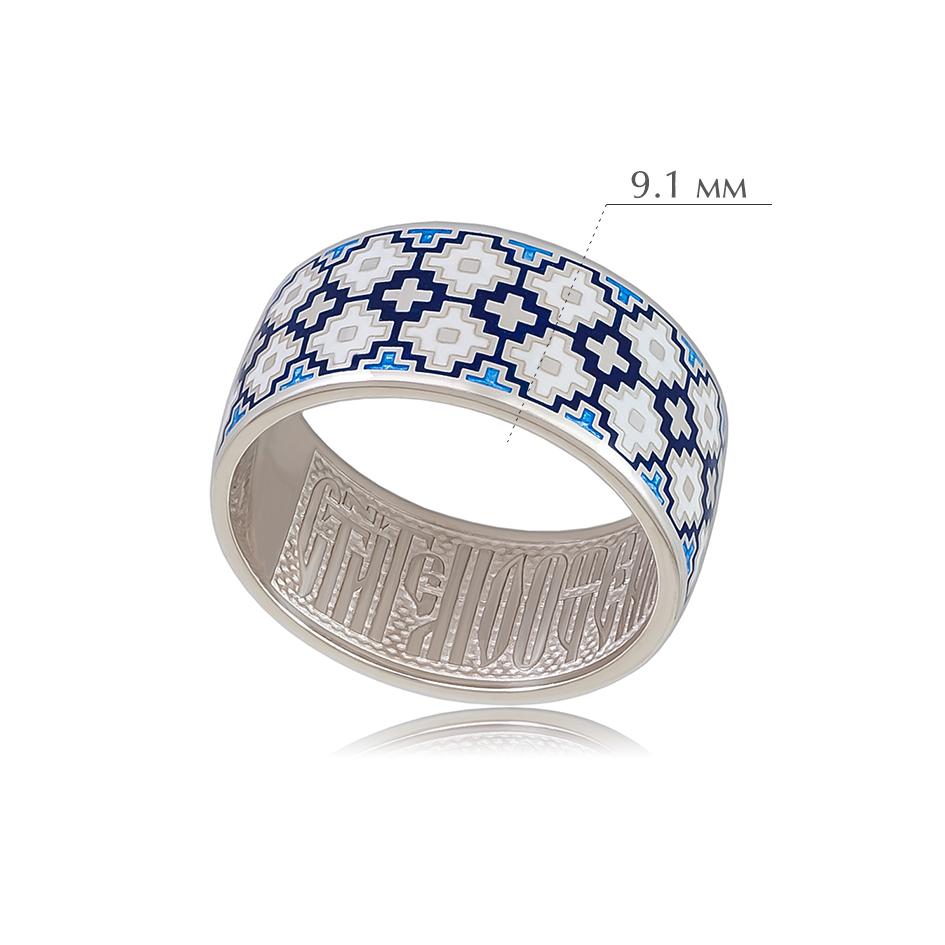 merezhka 2 - Кольцо из серебра «Мережка», синее