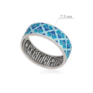 molitva angelu 3 300x300 - Кольцо из серебра «Молитва ангелу», синяя