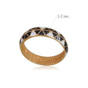 otrazhenie 3 300x300 - Кольцо из серебра «Отражение» (золочение), змейка