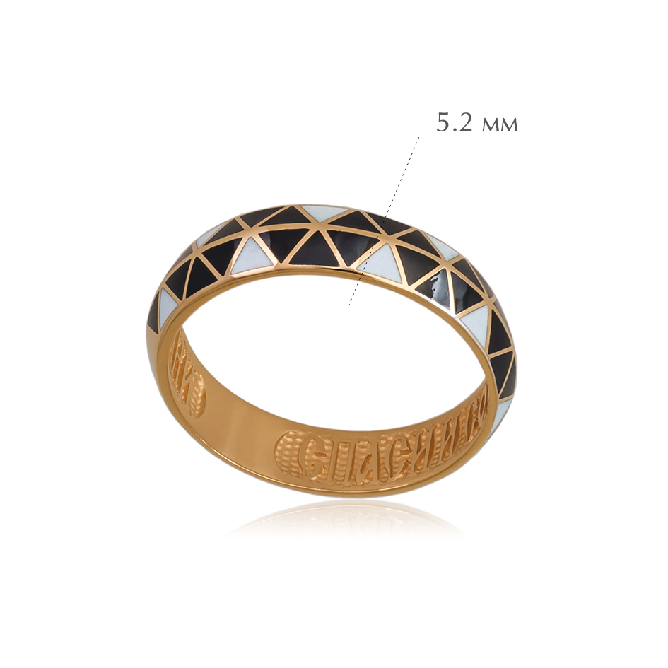 otrazhenie 3 - Кольцо из серебра «Отражение» (золочение), змейка