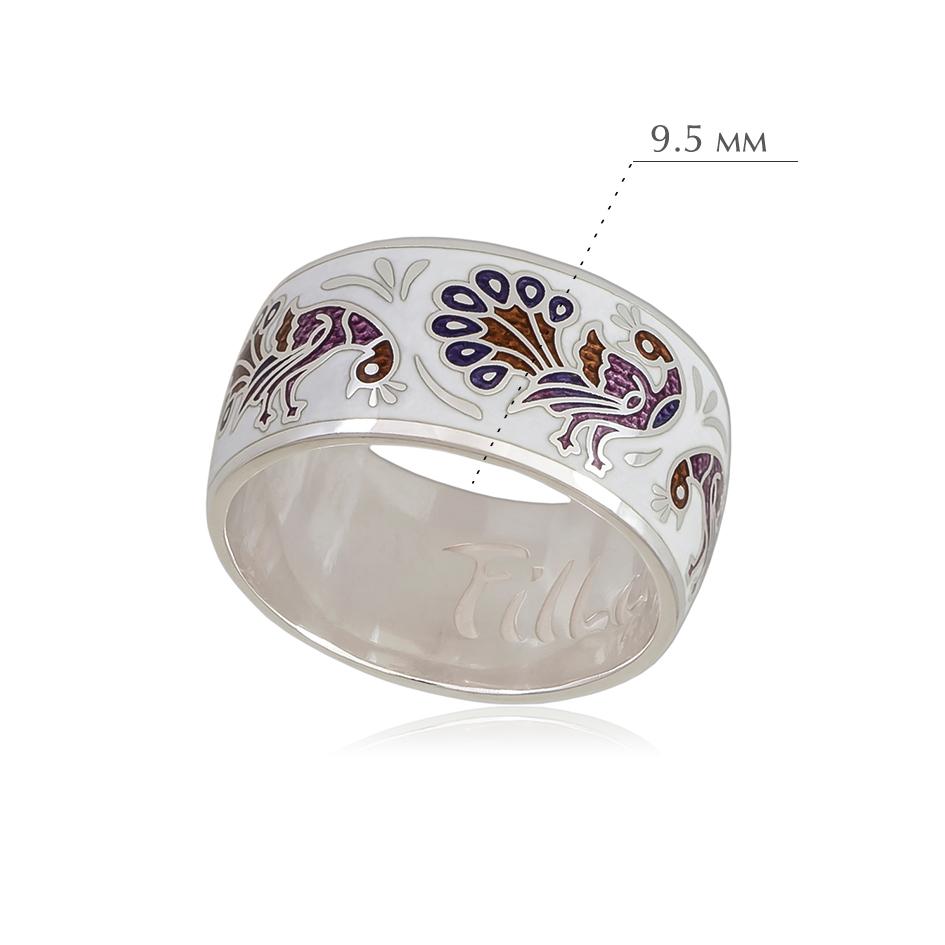 po zernu 3 - Кольцо из серебра «По зернышку», бело-фиолетовое