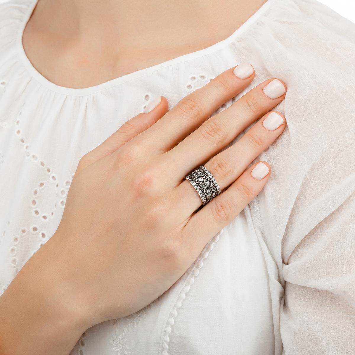 rishele 2 - Кольцо из серебра «Ришелье»
