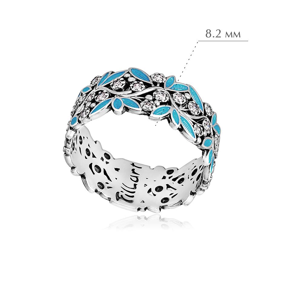 rosinka golubaya 1 - Кольцо из серебра «Росинка», голубое с фианитами
