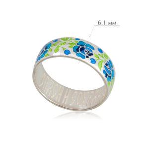 rozy 300x300 - Кольцо из серебра «Розы», синее