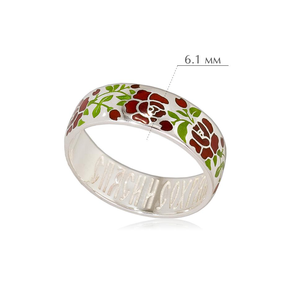 rozy 4 - Кольцо из серебра «Розы», красная