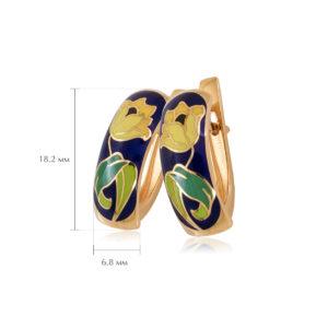 sergi tyulpany 3 300x300 - Серьги с английским замком «Тюльпаны» (золочение), желтые