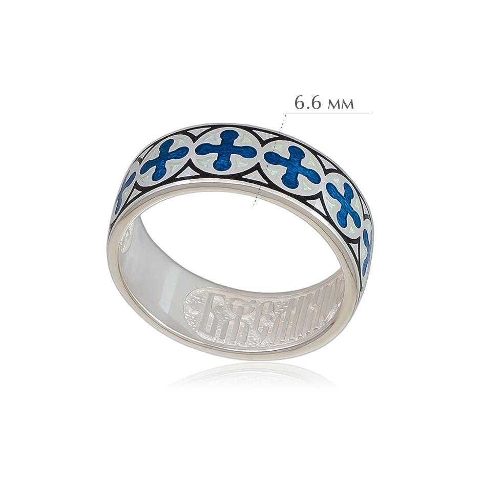 vizantijskoe 1 - Кольцо из серебра «Византийское», синяя