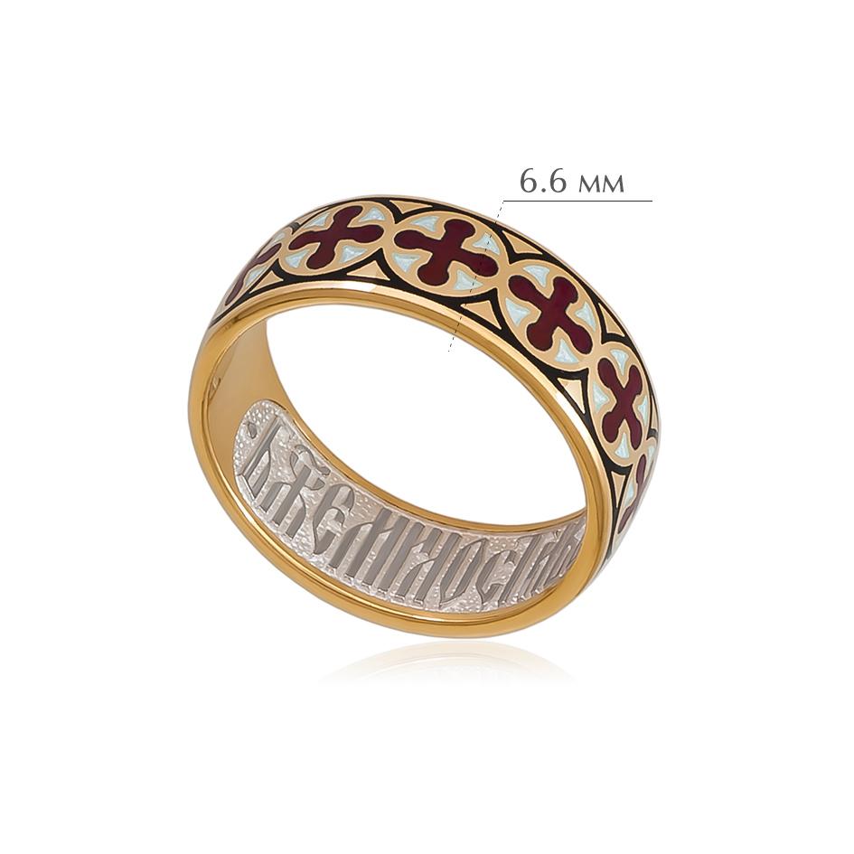 vizantijskoe 4 - Кольцо из серебра «Византийское» (золочение), красное