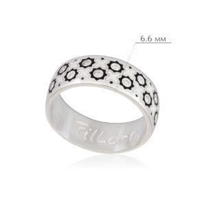 vostochnoe 1 300x300 - Кольцо из серебра «Восточное», черно-белое с фианитами