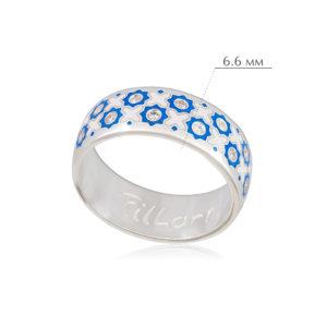 vostochnoe 2 300x300 - Кольцо из серебра «Восточное», сине-белая с фианитами