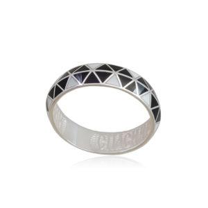 61 129 2s 1 300x300 - Кольцо из серебра «Отражение», черно-белая