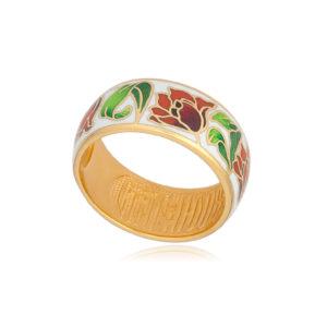 61 136 3z 3 300x300 - Кольцо из серебра «Тюльпаны» (золочение), красно-белое