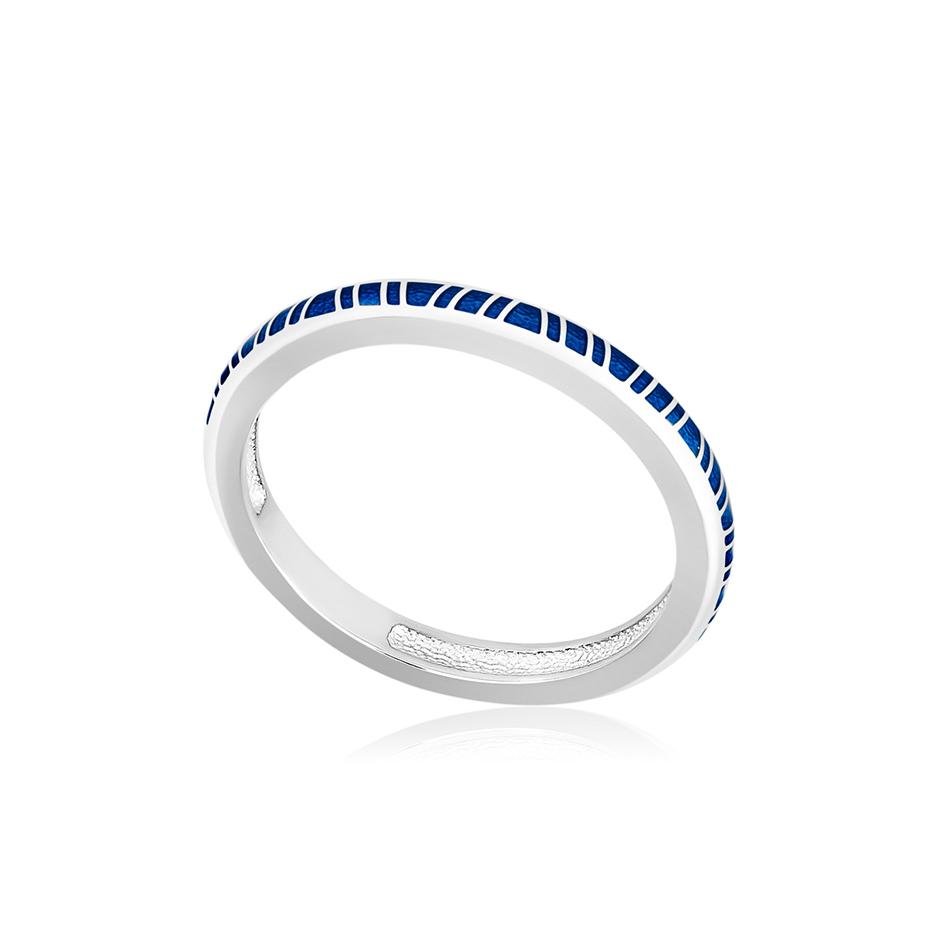 61 153 1s 1 - Кольцо из серебра «Принцесса на горошине», синее