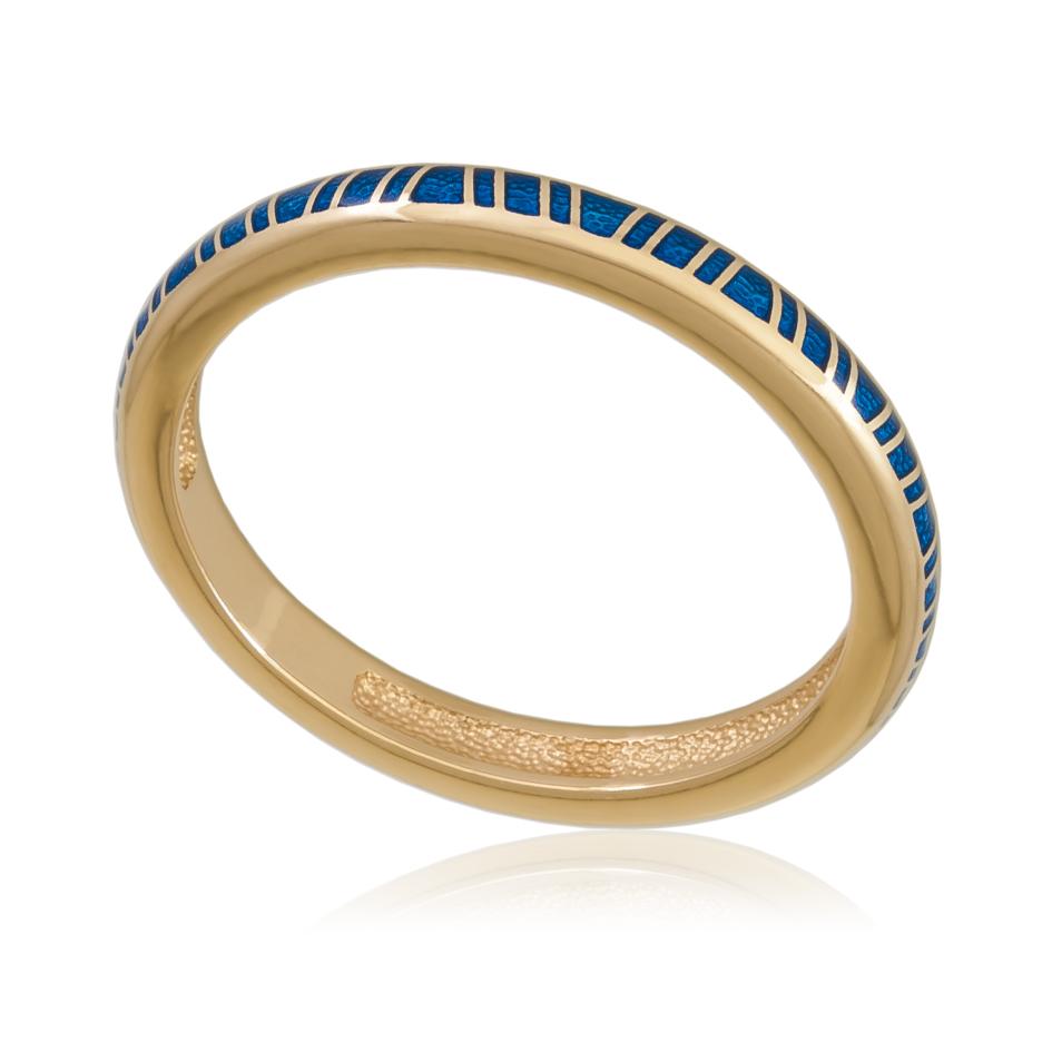 61 153 1z - Кольцо «Принцесса на горошине» (золочение), синее