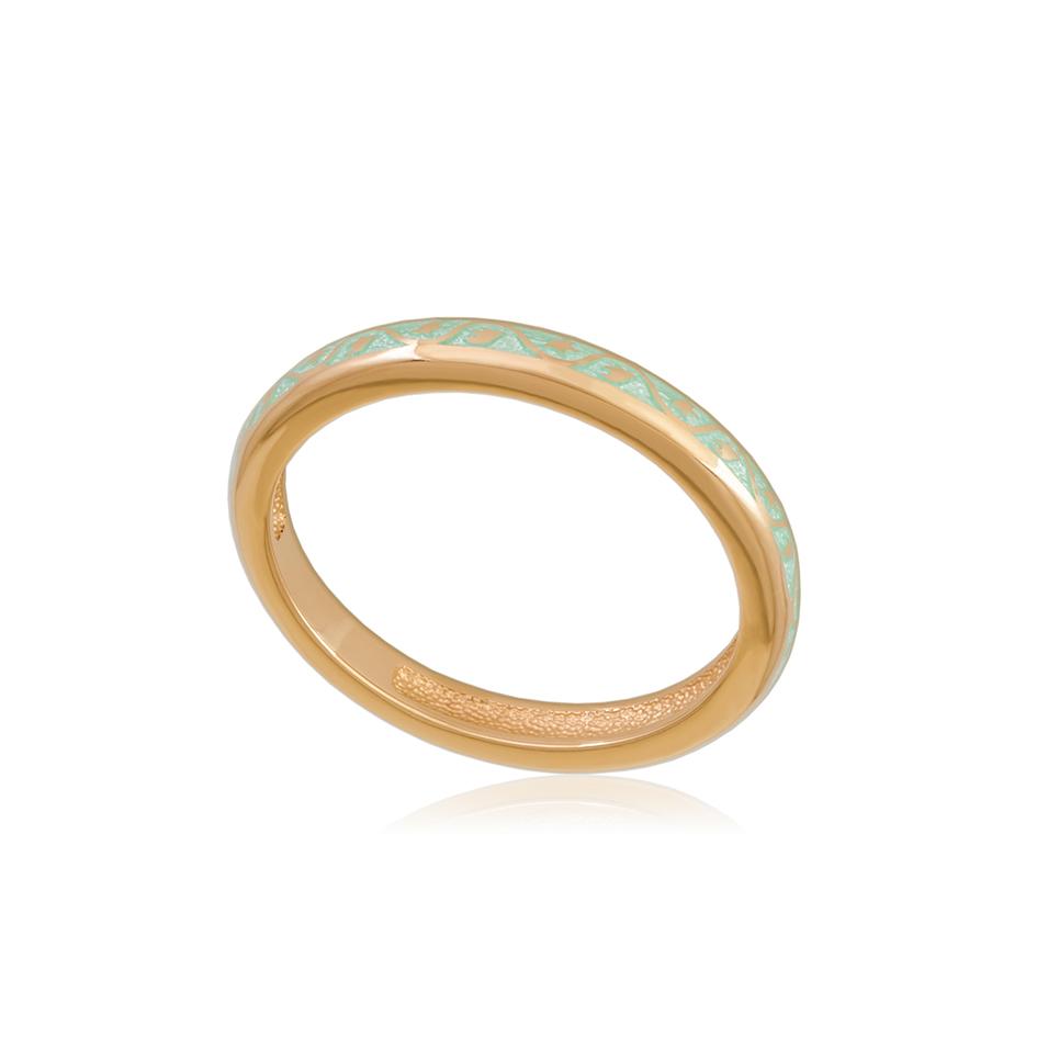 61 155 1z 1 - Кольцо из серебра «Принцесса на горошине» (золочение), мятное