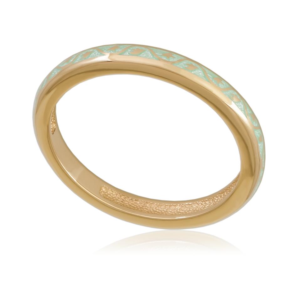 61 155 1z - Кольцо «Принцесса на горошине» (золочение), мятное