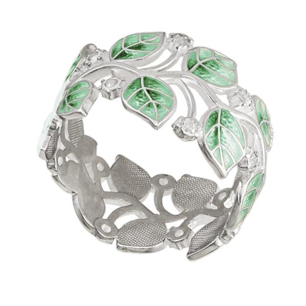 6 39 1s 600x600 - Кольцо «Мелисса», зеленое с фианитами