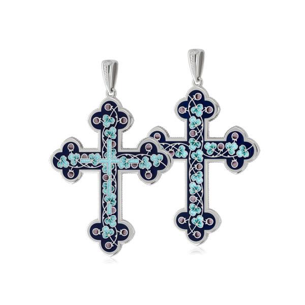 81 123 1s 1200x1200 1 600x600 - Нательный крест (золочение), голубой