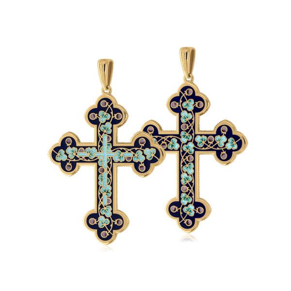 81 123 1z 1200x1200 1 600x600 - Нательный крест (золочение), голубой