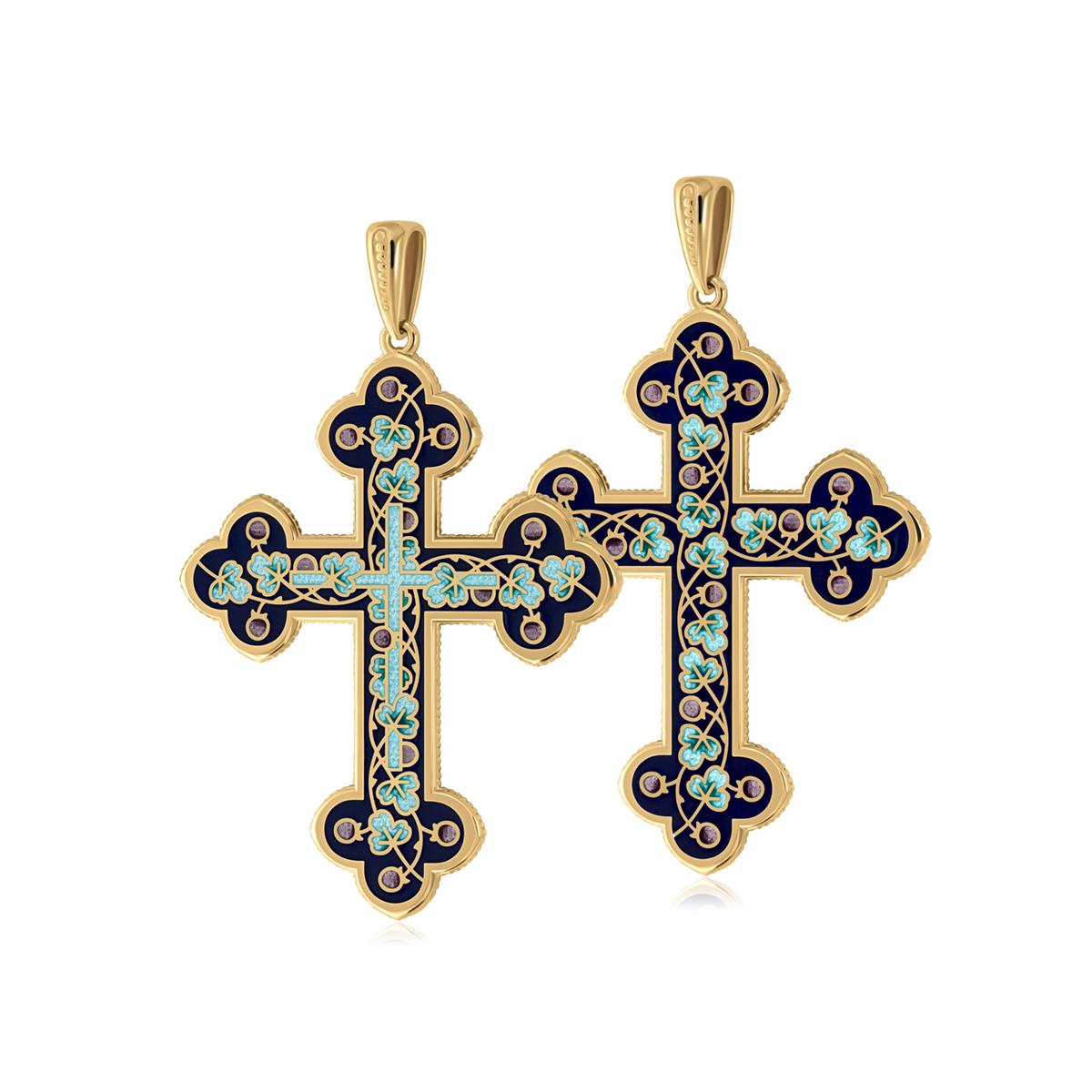 81 123 1z 1200x1200 1 - Нательный крест (золочение), голубой