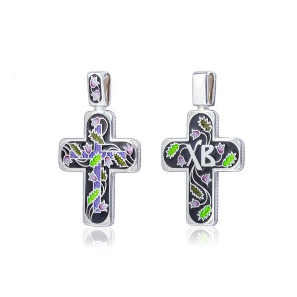81 124 2s 1 600x600 - Нательный крест «Спас на крови», черный