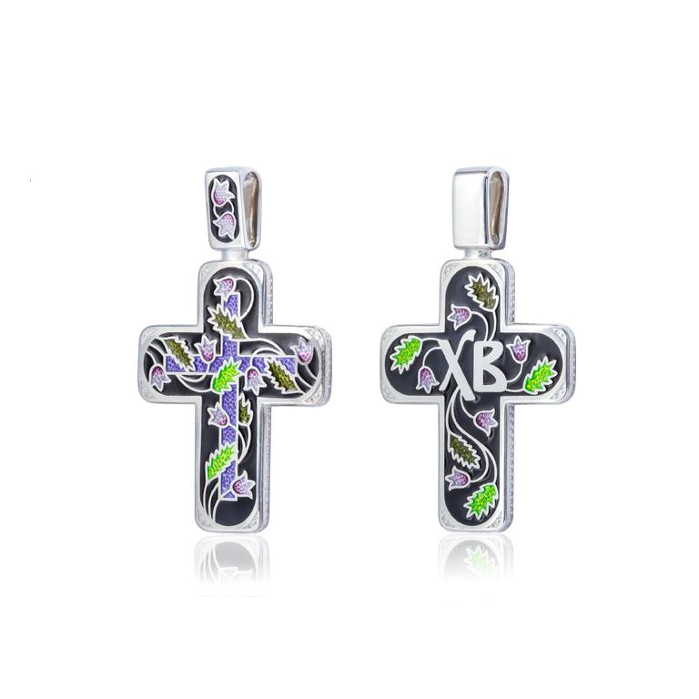 81 124 2s 1 - Нательный крест «Спас на крови», черный