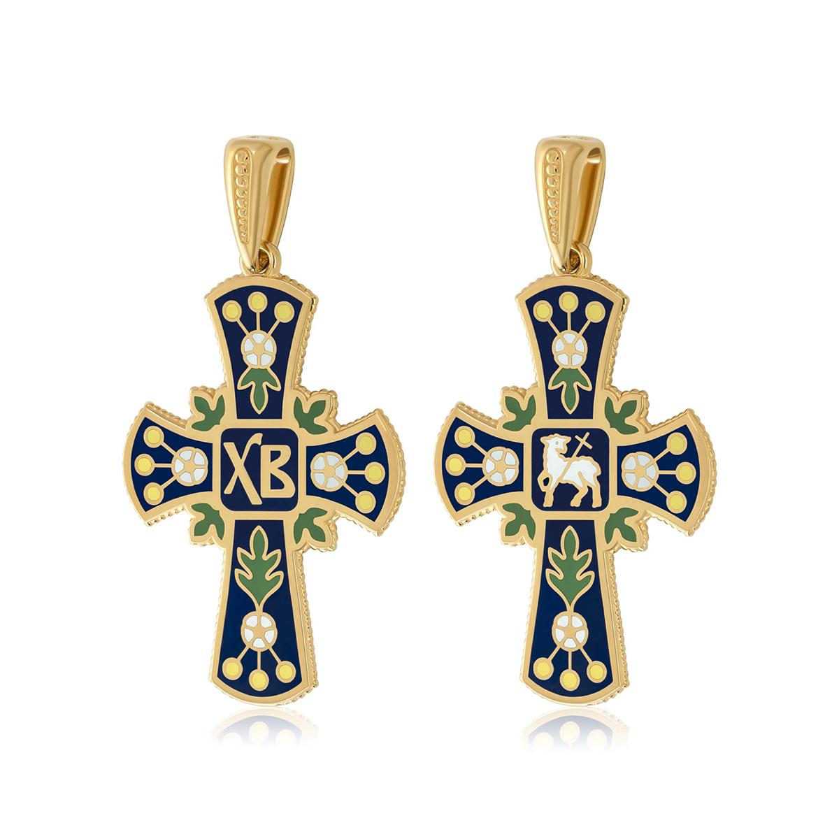 81 126z dve sorony 1200x1200 1 - Нательный крест (золочение), синий