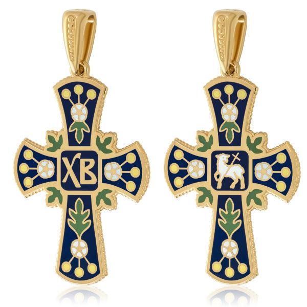 81 126z dve sorony 600x600 - Нательный крест (золочение), синий