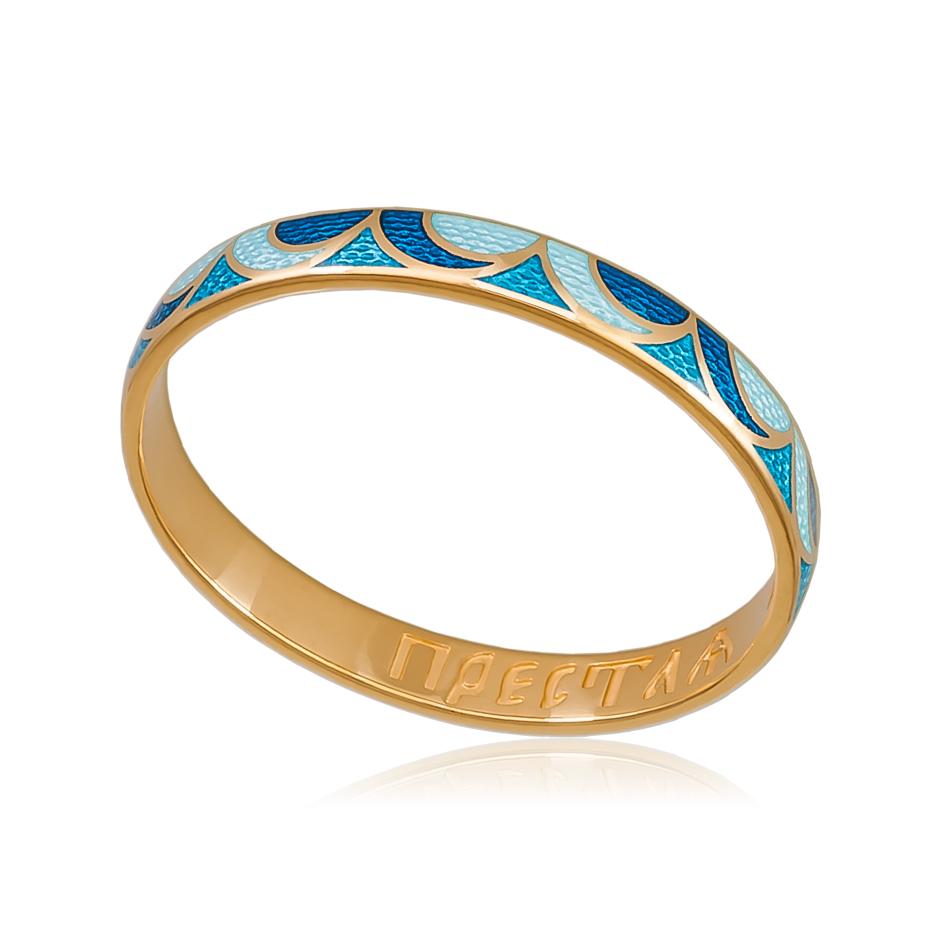 Zolochenie sine goluboe 1 - Кольцо «Седмица» (золочение), сине-голубое