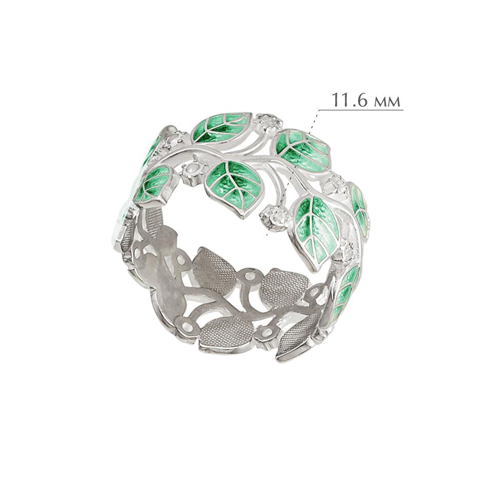 melissa zelenaya - Кольцо из серебра «Мелисса», зеленое с фианитами