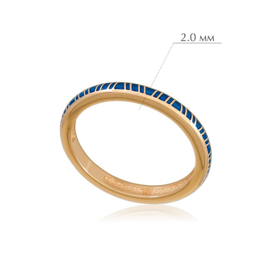 princzessa 61.153z 1 - Кольцо из серебра «Принцесса на горошине» (золочение), синее