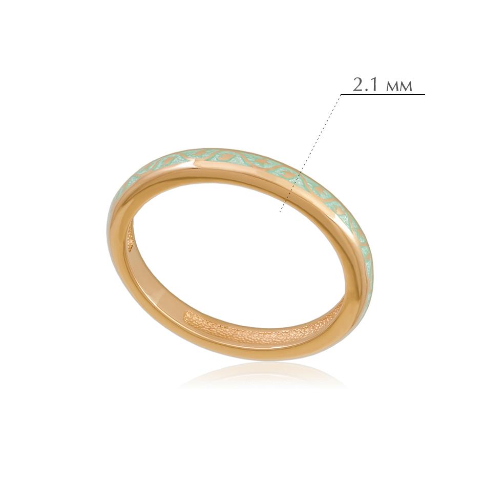 princzessa 61.155z - Кольцо из серебра «Принцесса на горошине» (золочение), мятное
