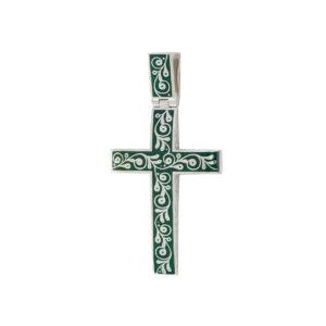 serebro zelenaya 1 1 1200x1200 1 300x300 - Нательный крест «Спас на крови», зеленый