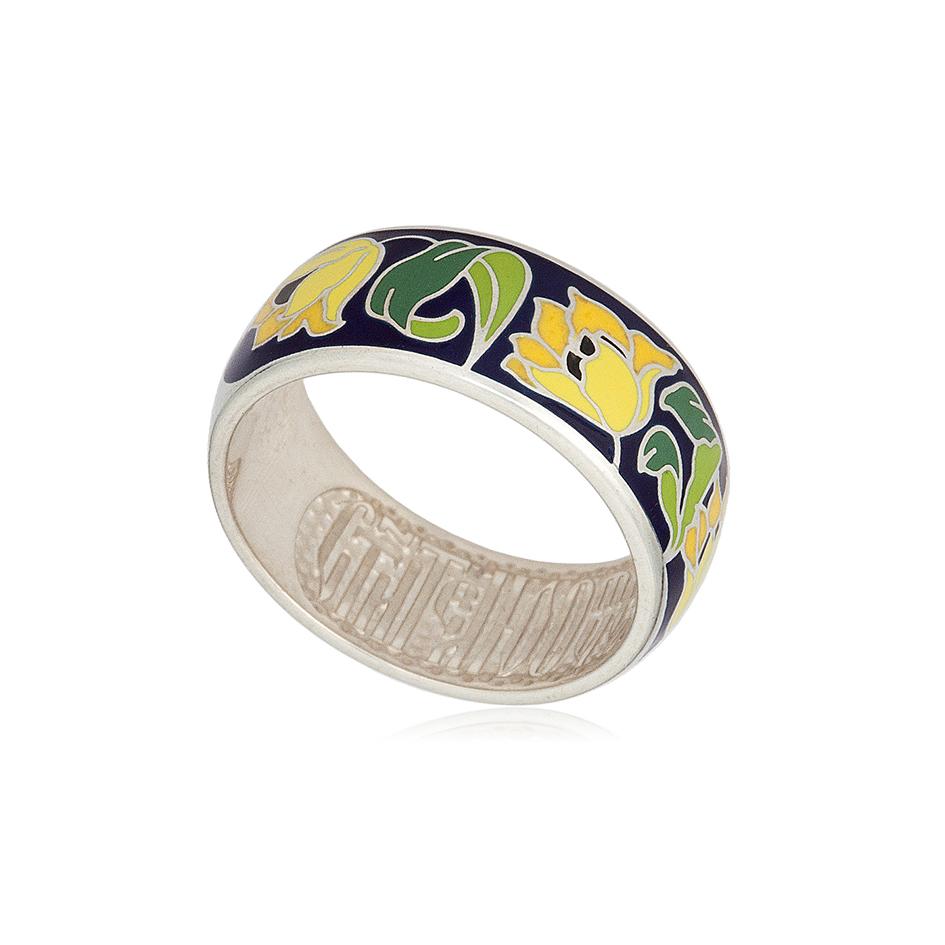 serebro zheltaya 1 1 - Кольцо из серебра «Тюльпаны», желтое