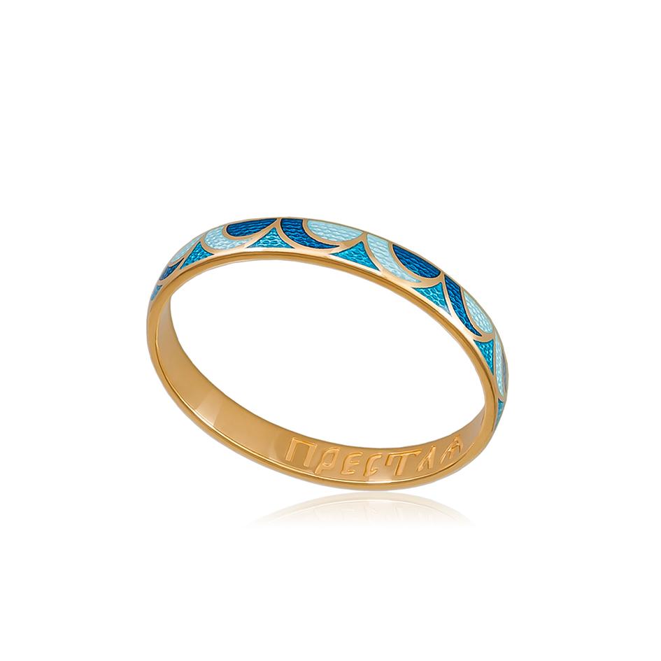 zolochenie sine goluboe 1 1 - Кольцо серебряное «Седмица» (золочение), сине-голубое