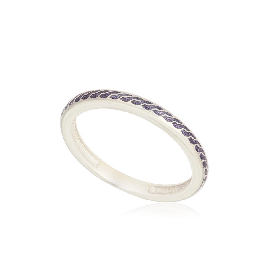 61 158 1s 1 - Кольцо из серебра «Принцесса на горошине», фиолетовое